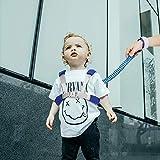Felly Kinder Sicherheitsleine, Anti-verloren Gürtel- 1.5M Anti Lost Wrist Link-Sicherheitsleinen reisen mit kindern Set【2 in 1 Upgraded】Blau