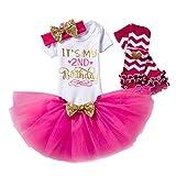 Set 4 Blusen Kleid Baby Mädchen Kleidung 1. 2. Geburtstag Geschenk Outfits Prinzessin Kleid Kinder...