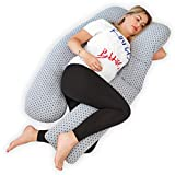 Kolbray® Schwangerschaftskissen (Erhältlich in C und U) - Ganzkörper-Mutterschaftskissen zum Schlafen mit abnehmbarem Jerseybezug   Orthopädisches Stützkissen für Schwangere oder stillende Frauen