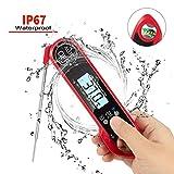 Fleischthermometer, Instant Read Digital Thermometer Elektronisches Lebensmittel Thermometer mit Sonde für die Küche, BBQ, flüssig, Lebensmittel,einfach bedienen und wasserdicht [Batterie enthalten]