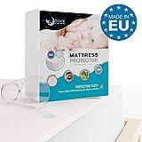 Dreamzie - Matratzenschoner 70 x 140 cm Wasserdicht für Babybetten - Atmungsaktive...