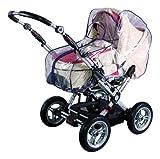 sunnybaby 10595 - Universal Regenverdeck, Regenschutz mit praktischem Reißverschluss für Kinderwagen, Babywanne, Soft-Tragetasche   Kontaktfenster für optimale Luftzirkulation   PREMIUM QUALITÄT