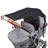 Fengzio Universal Sonnensegel für Kinderwagen/Babywanne UV Schutz Beschichtung 50+ Sonnenschutz...