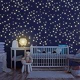 Homery Sternenhimmel 400 Leuchtsterne selbstklebend mit starker Leuchtkraft, fluoreszierende Leuchtsterne Wandtattoo & Wanddeko Aufkleber für Baby, Kinder oder Schlafzimmer (Leuchtsterne)
