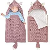 Kinderwagen Decke Neugeborene Wickeldecke Schlafsack Wolle Kinderwagendecke Winter Dick Schlafsäcke für 0-6 Monate Jungen Mädchen Rosa