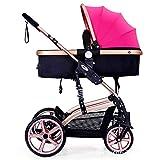 Kinderwagen - umwandelbarer Stubenwagen Kinderwagen Compact Single Kinderwagen Kindersitz...