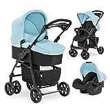 Hauck Kombi Kinderwagen Shopper Trio Set / inkl. Baby Wanne mit Matratze / Reise System mit Autositz...