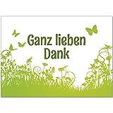 15 x Dankeskarten mit Umschlag - Garten Wiese grün - Danksagungskarten, Danke sagen, nach Hochzeit,...