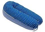 AKTION! SCAMP Stillkissen universales Schwangerschaftskissen inkl. Bezug verschiedenes Design NEU (Dark Blue Sky Striped)