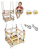 alles-meine.de GmbH Gitterschaukel mit abnehmbaren Gurt - Babyschaukel / Kinderschaukel - Leichter...