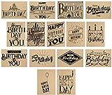 15 hochwertige Geburtstagskarten mit Umschlag – ein Set von Davom