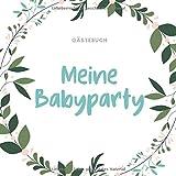 GÄSTEBUCH MEINE BABYPARTY: A5 Gästebuch punktiert Geschenkidee für die Babyparty | Babyshower |...