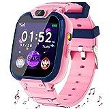 Kinder SmartWatch - MP3 Musik 14 Spiele Kids Smart Watch Anruf Chat SOS Taschenlampe Digitalkamera, Uhr mit Telefon Kamera Wecker Recorder Rechner Video Geschenk für Kinder Junge Mädchen (Pink)