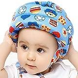 IULONEE Baby Helm Kopfschutz Kleinkind Schutzhut Baumwolle Verstellbarer Sicherheitshelm(Fußball Blau)
