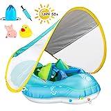 Achort Baby Schwimmring Baby Schwimmen Schwimmtrainer mit abnehmbarem Sonnendach, Kinderboot...