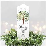 Wandtattoo Loft Taufkerze Junge oder Mädchen Lebensbaum Baum - Kerze zur Taufe, Geburt Kommunion...