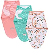 SaponinTree Baby Pucksack für Neugeborene, 3er Pack Baby Wickeldecke für Neugeborene von 0-6 Monate, Universal Verstellbare Schlafsack Decke für Säuglinge Babys Neugeborene