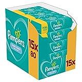 Pampers Fresh Clean Baby Feuchttücher, 1200 Tücher (15 x 80) Mit Frischem Duft, Dermatologisch...