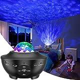 Slols LED Sternenhimmel Projektor Lampe, LED Sternenlicht Projektor mit Rotierende Ozeanwellen/Bluetooth Musikspieler/Fernbedienung/Timer/Starry Projekorlampe Perfekt für Kinder,Party,Dekoration