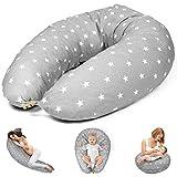 Stillkissen Schwangerschaftskissen zum Schlafen Seitenschläferkissen - Lagerungskissen groß...