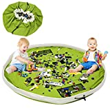 LEADSTAR Kinder Spielzeug Aufbewahrungstasche, Faltbare Drawstring Aufbewahrungsbeutel, Spielzeugaufbewahrung für Kinder, Kinder Spieldecke,Tragbare Aufräumsack (Gras-Grün)