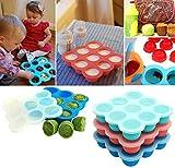 UMIGAL Babybrei Aufbewahrung zum Einfrieren von Babynahrung und als Behälter für Beikost | 2 Farben zur Auswahl | BPA-frei & FDA zugelassen | 9 x 75ml, ideale Portionsgröße (Green)