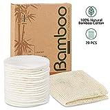 SPACES® Waschbare Abschminkpads| 20 Stück Wiederverwendbare Wattepads aus Bambus und Baumwolle |...