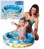 Smart Planet® Peppa Pig Baby Pool / Mini Baby Planschbecken 74 x 18 cm - Kleiner aufblasbarer Pool zum Baden für Babys und Kleinkinder für den Sommer