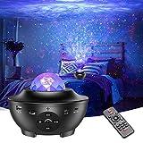 LED Sternenhimmel Projektor Hiluckey Galaxy Light mit LED-Nebelwolke, Fernbedienung, Bluetooth, Timer, Eingebautem Musikspieler Nachtlicht Sternenhimmel für Kinder Zimmer Party Heimkino