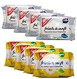 Gut & Günstig 8 Pack (560 Blatt) feuchtes Toilettenpapier 4er Pack Kamille & 4er Pack Sensitiv