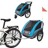 Veelar Sports 2 in 1 Kinderanhänger Fahrradanhänger Anhänger mit Buggy Set + Federung BT603-D03...