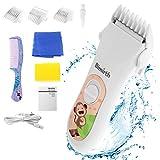 Bimirth Elektronischer Baby Haarschneider, Ruhig Schnurloser Haarschneidemaschine Kit für Kinder,...