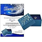 Echte Sternschnuppe in Geschenkbox mit Widmung zur Taufe - Meteorit mit Echtheitszertifikat und...