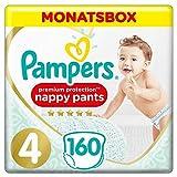 Pampers Größe 4 Premium Protection Baby Windeln, 160 Stück, MONATSBOX, Weichster Komfort Und Schutz (9-15kg)