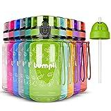 bumpli ® Kinder Trinkflasche - 350ml - mit Gratis Strohhalmdeckel - Auslaufsicher, BPA-Frei - Kinderflasche für Kindergarten, Schule, Ausflüge - besonders leicht und robust