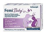 tetesept Femi Baby - Nährstoffe für Kinderwunsch, Schwangerschaft & Stillzeit - 16 Vitamine & Nährstoffe wie Folsäure, Eisen, Magnesium, DHA, Jod - 1 x Monatspackung à 30 Tabletten + 30 Kapseln