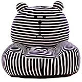 PUDDINGT® Sessel Schlafsofa Tier für Kinder In Outdoor Sitzsäcke Kissen Sofa Sofakissen Hocker Sitzkissen Bodenkissen Füllung Möbel Samt,Schwarz