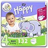 bella baby Happy Windeln für Babys Gr. 4, 8-18 kg, im Monatspack mit perfekter Passform und...