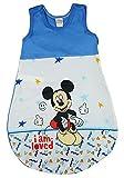 Disney Baby ärmelloser Sommer-Schlafsack in Größe 56 62 68 74 80 86 92 98 104 110 DÜNN Nicht gefüttert 100% Baumwolle, für Jungen mit Mickey Mouse Farbe Modell 1, Größe 56/62