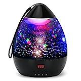 Projektor Lampe LED Grandbeing Nachtlicht Kinder 360° Drehen 8 Beleuchtungsmodi und Automatisch...
