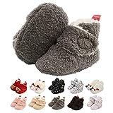 Neugeborene Warme Winterschuhe, Bio Baumwoll-Futter und rutschfeste Streifen Bootie Sock Schuhe...
