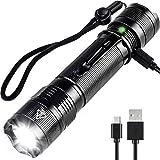 LED Taschenlampe,Taktische Taschenlampe Wasserdicht USB Wiederaufladbare Handheld-Licht Super Helle IP67 Waterproof Taschenlampen, LED CREE XPG2 S3 800 Lumen 5 Lichtmodi für Camping/Wandern / Walking