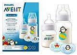 Philips Avent Anti-colic Flaschen-Set SCD805/01, 2 Flaschen - 125ml & 260ml und Klassik Schnuller