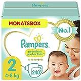 Pampers Größe 2 Premium Protection Baby Windeln, 240 Stück, MONATSBOX, Weichster Komfort Und...
