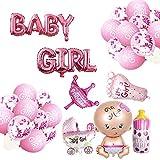 Oumezon Babyparty Deko Mädchen, Baby Shower Party Deko - Baby Girl Ballon Banner,...