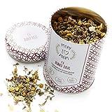 Mom to Mom® Ruhig Blut - Schwangerschaftstee / Entspannungstee (Bio-Zertifiziert) Tee für stressige Momente in der Schwangerschaft und im Mama Alltag- Praktische Dose - 50g loser Bio Tee