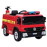 crooza NEUHEIT - Feuerwehr Kinderauto Feuerwehrauto Firetruck Kinderfahrzeug Kinder Elektroauto...