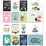 20 Geburtstagskarten Set | Glückwunschkarte Grusskarte Geburtstag Happy Birthday | Männer Frauen...