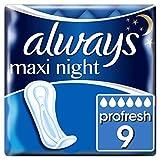 Always Maxi Profresh Night Binden Ohne Flügel, 5er Pack (5 x 9Stück)