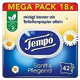Tempo Toilettenpapier feucht Tempo Sanft Pflegend Trio-Pack (18 (6 x 3) Packungen x je 42 Blatt),...